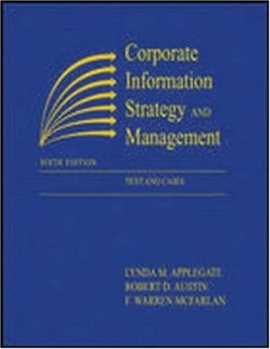 9780072456721: Corporate Information Strategy and Management: Text and Cases
