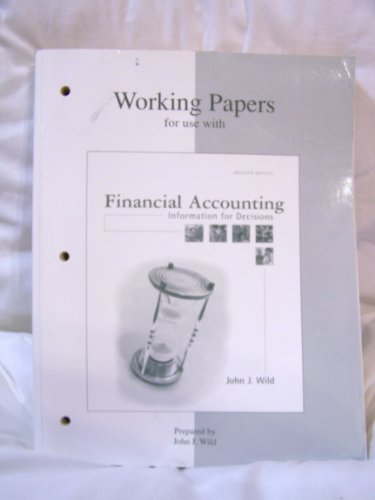 9780072457278: Working Papers for use with Financial Accounting