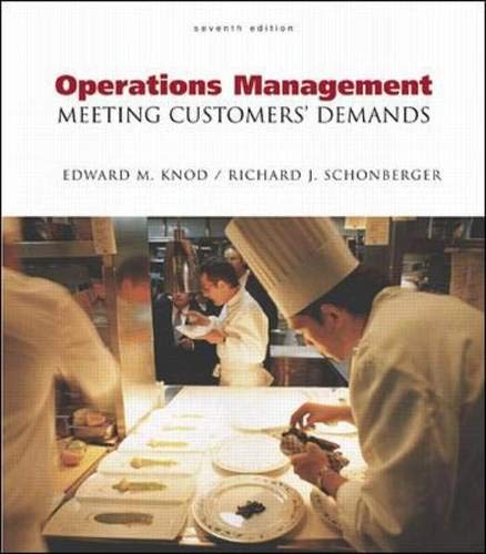9780072460506: Operations Management: Meeting Customer's Demands with Student CD-ROM