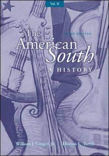9780072460889: Volume II The American South: A History: v. 2