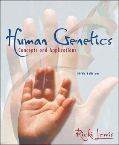 9780072462685: Human Genetics: Concepts and Applications