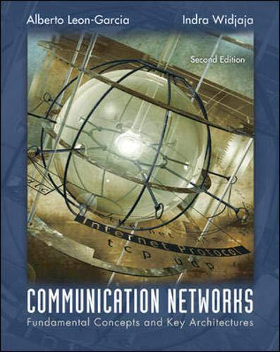 Communication Networks: Alberto Leon-Garcia, Indra