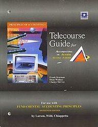 9780072464931: Student Telecourse Guide, Volume 1, Chapters 1-13 for use with Fundamental Accounting Principles