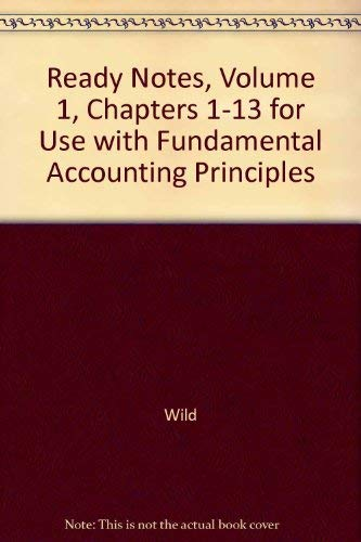 9780072464948: Ready Notes, Volume 1, Chapters 1-13 for use with Fundamental Accounting Principles