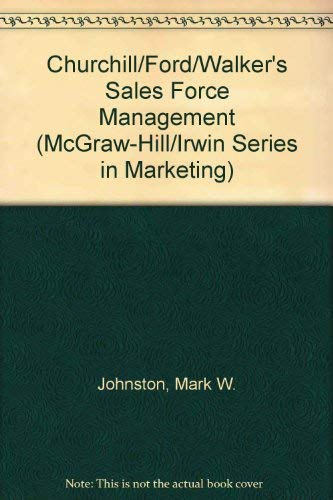 9780072466485: Churchill, Ford, and Walker's Sales Force Management