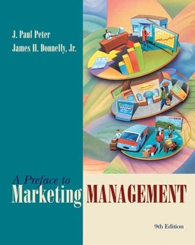 9780072466584: Preface to Marketing Management (The Irwin/McGraw-Hill Series in Marketing)