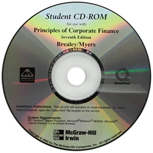 9780072467925: Student CD T/A Principles of Corporate Finance