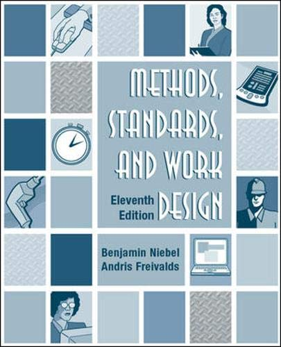 Methods, Standards, & Work Design: Freivalds, Andris, Niebel,