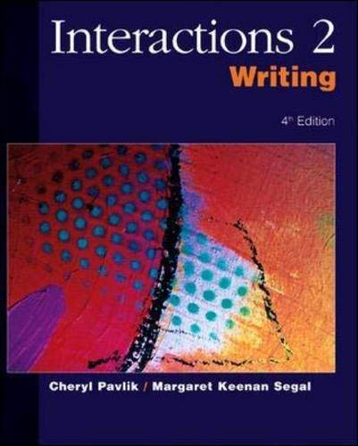 9780072469097: Interactions 2 Writing: Student Book (Bk. 2)