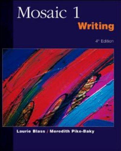 9780072469103: Mosaic 1 Writing SB: Student Book Bk. 1