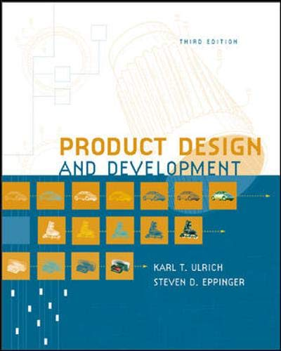 9780072471465: Product Design and Development