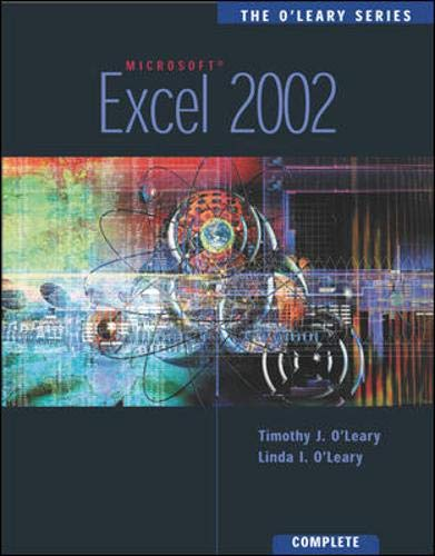 9780072471663: The O'Leary Series: Excel 2002- Complete