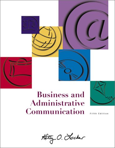 9780072472134: Business and Administrative Communication