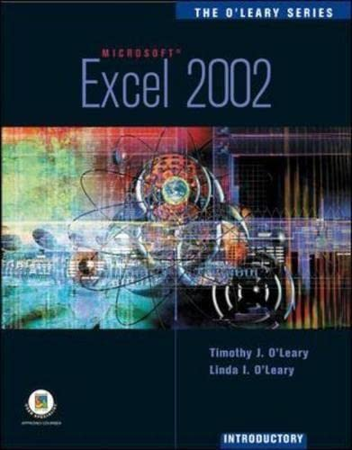 9780072472417: The O'Leary Series: Excel 2002- Introductory