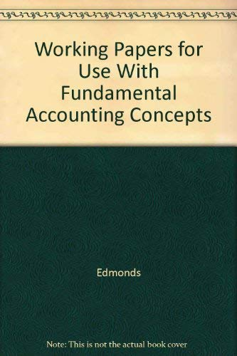 9780072473056: Working Papers for use with Fundamental Financial Accounting Concepts Fourth Edition
