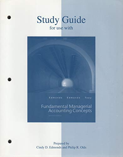 9780072473414: Study Guide for use with Fundamental Managerial Accounting Concepts