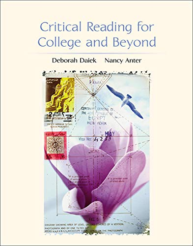 9780072473766: Critical Reading for College and Beyond