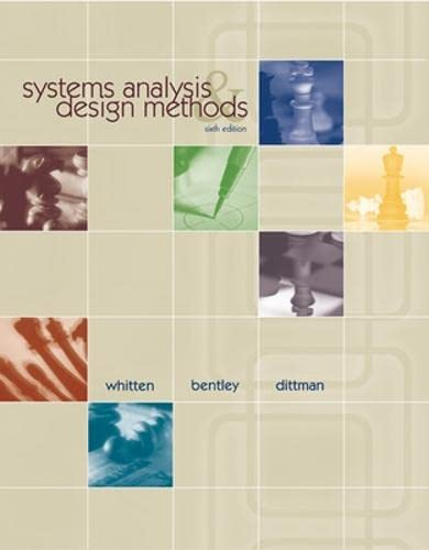 9780072474176: Systems Analysis and Design Methods