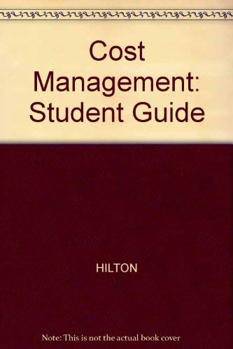 9780072474381: Study Guide for use with Cost Management: Strategies for Business Decisions