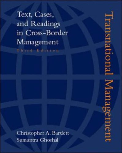 9780072474565: Transnational Management 3rd Edition with PowerWeb