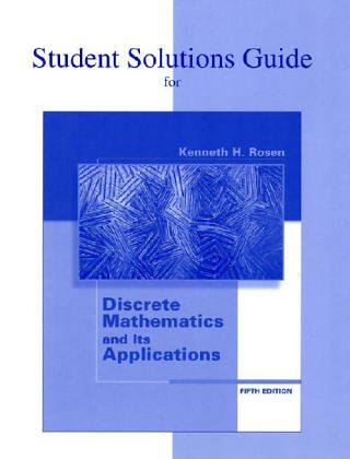 9780072474770: Student's Solutions Guide to accompany Discrete Mathematics and Its Applications