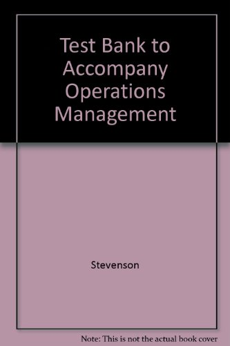 9780072474947: Test Bank to Accompany Operations Management