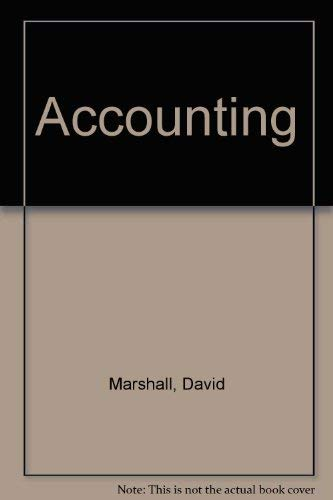 Study Guide and Working Papers for use with Accounting: What the Numbers Mean (0072475234) by David Marshall; Wayne William McManus; Daniel Viele