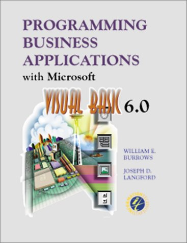 9780072476651: Programming Business Applications With Microsoft Visual Basic 6.0