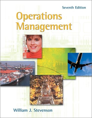 Operations Management with Student CD-ROM (0072476702) by William J Stevenson; William Stevenson
