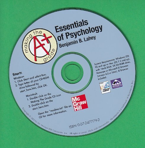 9780072477795: Making the Grade CD-ROM To Accompany Essentials of Understanding Psychology