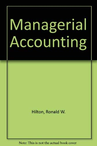 9780072478624: Managerial Accounting