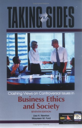 9780072480382: Taking Sides: Clashing Views on Controversial Issues in Business Ethics and Society