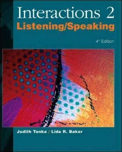 9780072481419: Interactions 2: Listening/Speaking (Bk. 2)