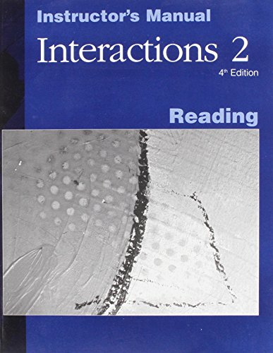 9780072481433: Interactions: Reading Instructor's Manual Bk. 2: Listening and Speaking