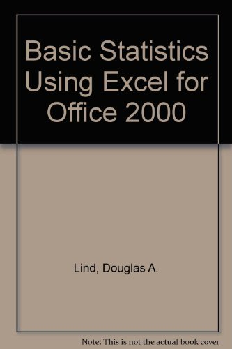 9780072481617: Basic Statistics Using Excel for Office 2000