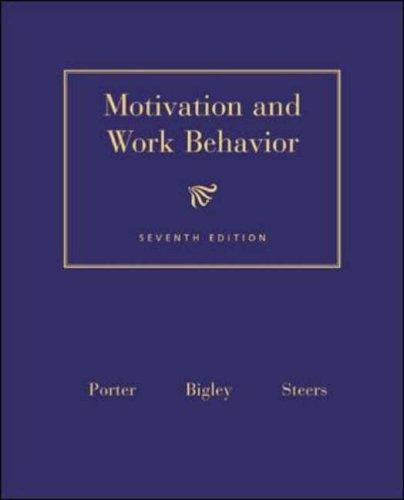 9780072481624: Motivation and Work Behaviour (Mcgraw-Hill Series in Management)