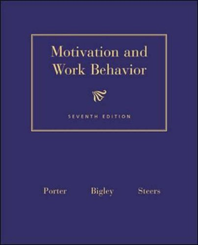 9780072481624: Motivation and Work Behaviour (Mcgraw-Hill Series in Management)