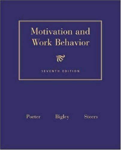 9780072481624: Motivation and Work Behavior