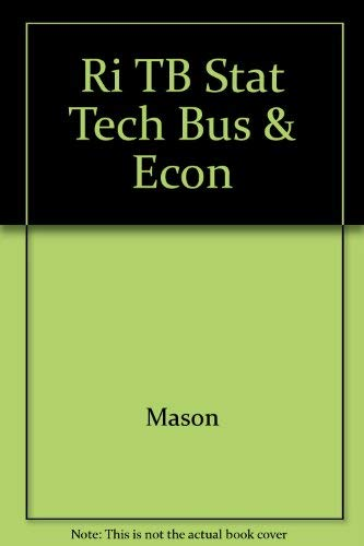 Ri TB Stat Tech Bus & Econ: Mason