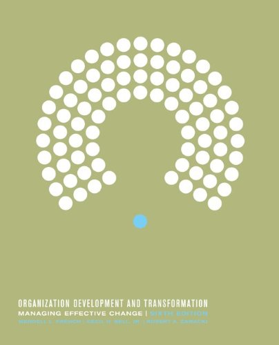 9780072481679: Organization Development and Transformation: Managing Effective Change