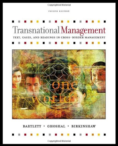 9780072482768: Transnational Management: Text and Cases