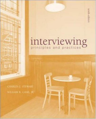 9780072483956: Interviewing: Principles and Practices