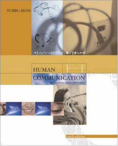 9780072483963: Human Communication: Principles and Contexts