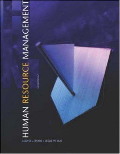 Human Resource Management: Lloyd L. Byars,
