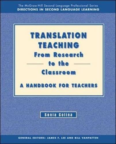 9780072487091: Translation Teaching: From Research to the Classroom