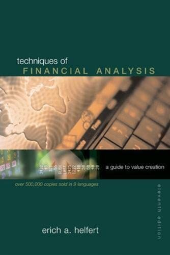 9780072487299: Techniques of Financial Analysis A Guide to Value Creation, Edition: 11