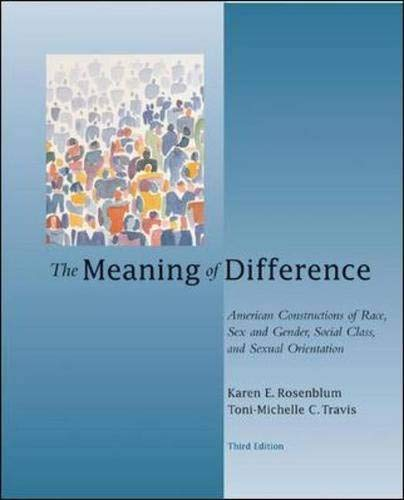 9780072487824: The Meaning of Difference: American Constructions of Race, Sex and Gender, Social Class, and Sexual Orientation