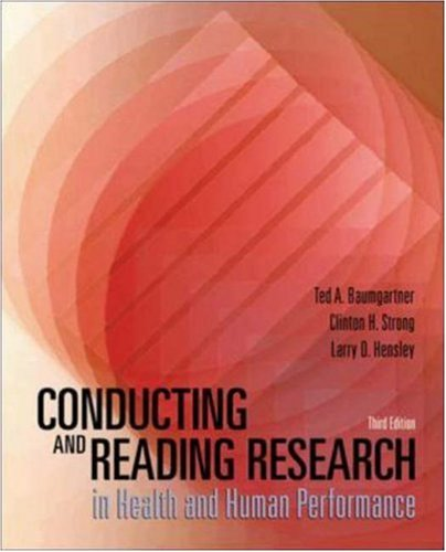 9780072489033: Conducting and Reading Research in Health and Human Performance with PowerWeb: Health and Human Performance