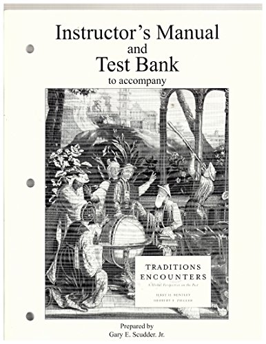 9780072489750: Instructor's Manual/Test Bank to Accompany Traditions and Encounters
