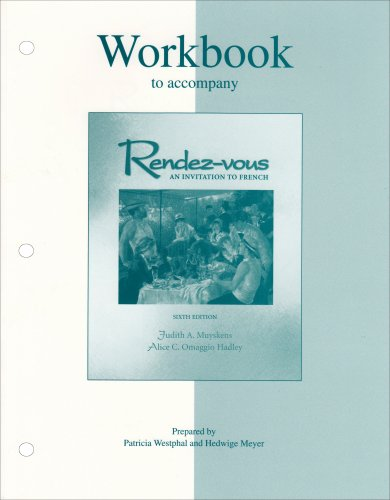 9780072490244: Workbook to accompany Rendez-vous: An Invitation to French